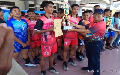 Tim Bola Volly SMA 1 Pegandon Juara I Dikpora Cup 2019