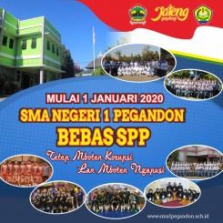 SMA Negeri 1 Pegandon Bebas SPP ejak 1 Januari 2020